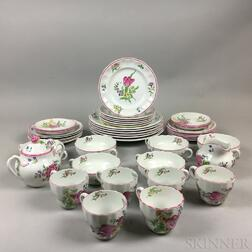 "Copeland Spode ""Luneville"" Porcelain Dinner Service for Six"