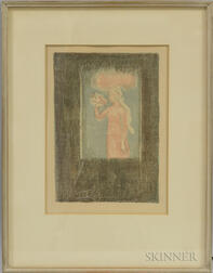 Maurice Denis (French, 1870-1943)      Lithograph Illustration from Francis Thompson, Poèmes