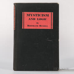 Russell, Bertrand (1872-1970) Mysticism and Logic  , Signed First Edition.