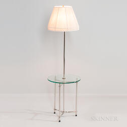 Laurel Floor Lamp with Integrated Glass Table