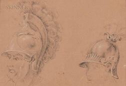European School, 18th/19th Century    Heads of Two Roman Soldiers