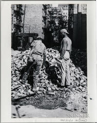 "Walker Evans (American, 1903-1975)       Workmen, Made for the Fortune   Magazine Article ""The Wreckers"" (Published May 1951)"