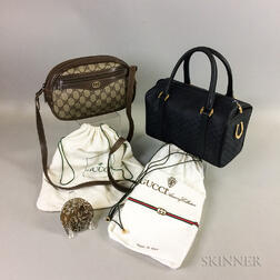 Two Gucci Bags and Gucci Compact Mirror