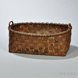Paint-decorated Woven Splint Basket