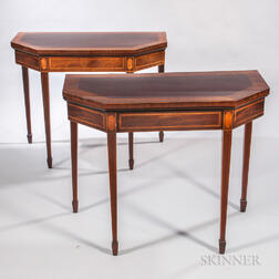Two George III Mahogany Card Tables