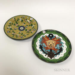 Two Cloisonne Dishes