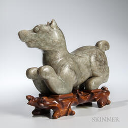 Jade Carving of a Dog