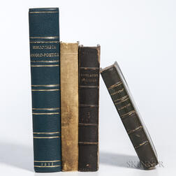 Bibliography, Facsimiles of Fine Books, and Others, Four Titles in Four Volumes.