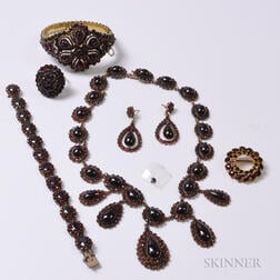 Group of Garnet Jewelry