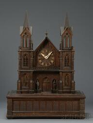 Carved Black Forest Clock and Musical Box