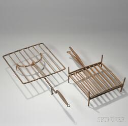 Wrought Iron Revolving Broiler and Wrought Iron Two-part Folding Broiler