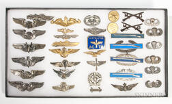 Group of Wings and Medals