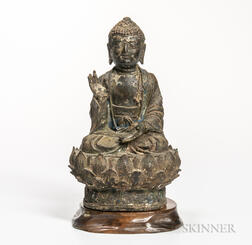 Painted Bronze Buddha