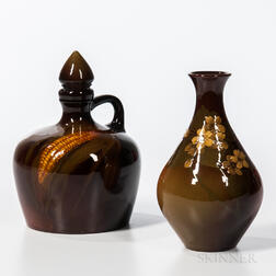 Two Rookwood Pottery Standard Glaze Items