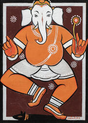 Jamini Roy (Indian, 1887-1972)      Ganesh