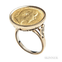 1910 Edward VII Gold Sovereign Ring