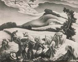 Thomas Hart Benton (American, 1889-1975)      Cradling Wheat