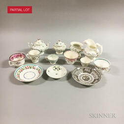 Approximately 110 Ceramic Cups, Saucers, Teapots, and Creamers.     Estimate $40-60