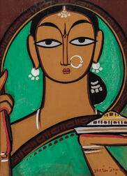 Jamini Roy (Indian, 1887-1972)      Woman