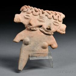 Michoacan Two-headed Flat Figure