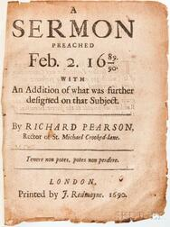 Collection of Sermons, England, 1660-1720.