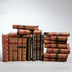 Decorative Bindings, Sets, Literature, Nineteen Volumes.
