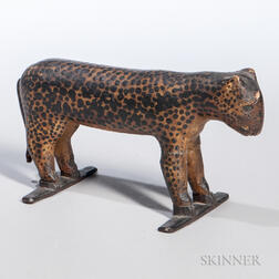 Fred Alten Carved and Painted Leopard