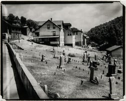 Walker Evans (American, 1903-1975)       Houses and Graveyard, Rowlesburg, West Virginia
