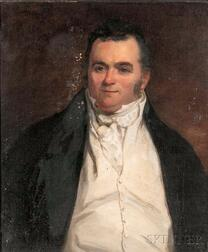 School of Thomas Sully (American, 1783-1872)      Portrait of a Gentleman in an Ivory Waistcoat