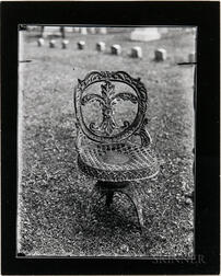Walker Evans (American, 1903-1975)       Two Works: Studies of Iron Garden Chairs