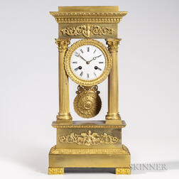 Gilt-bronze Portico Clock