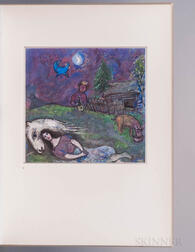Chagall, Marc (1887-1985) Phoebus Collotypes. Gouaches, a Limited Edition in Facsimile.