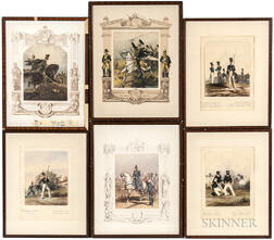 Continental School, 19th Century    Six Swedish Military Prints