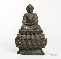 Bronze Figure of Lama