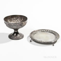 Two Pieces of Kirk .917 Silver Tableware