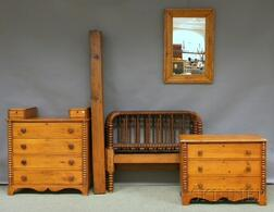 Group of Mostly Pine Bedroom Furniture