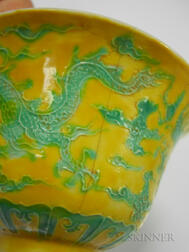 "Yellow and Green ""Dragon"" Cup"