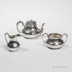 Three-piece Victorian Sterling Silver Tea Service