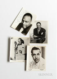 American Band Leaders, Jazz Musicians, and Other Performers, 1930s-60s, Large Collection of Photographs from the Roseland Ballroom, Man