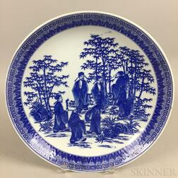 Blue and White Transferware Dish