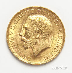 1926-SA British Gold Sovereign.     Estimate $200-300