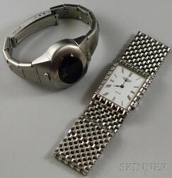Two Stainless Steel Wristwatches