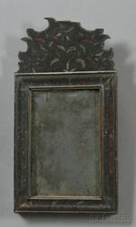 Painted-decorated Queen Anne Mirror