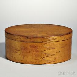 Shaker Covered Oval Box