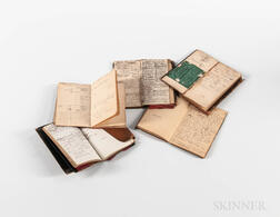 Five W. & L.E. Gurley Day Books or Ledgers