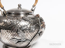 Durgin Sterling Silver and Mixed-metal Teapot