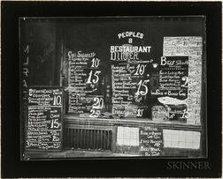 Walker Evans (American, 1903-1975)       Bowery Lunchroom, New York