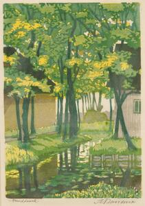 German School, 20th Century      View of Trees by a Stream