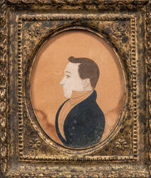 Amos H. Holbrook (act. 1830-1831)      Profile Portrait of a Gentleman