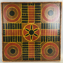 Large Polychrome Parcheesi Board